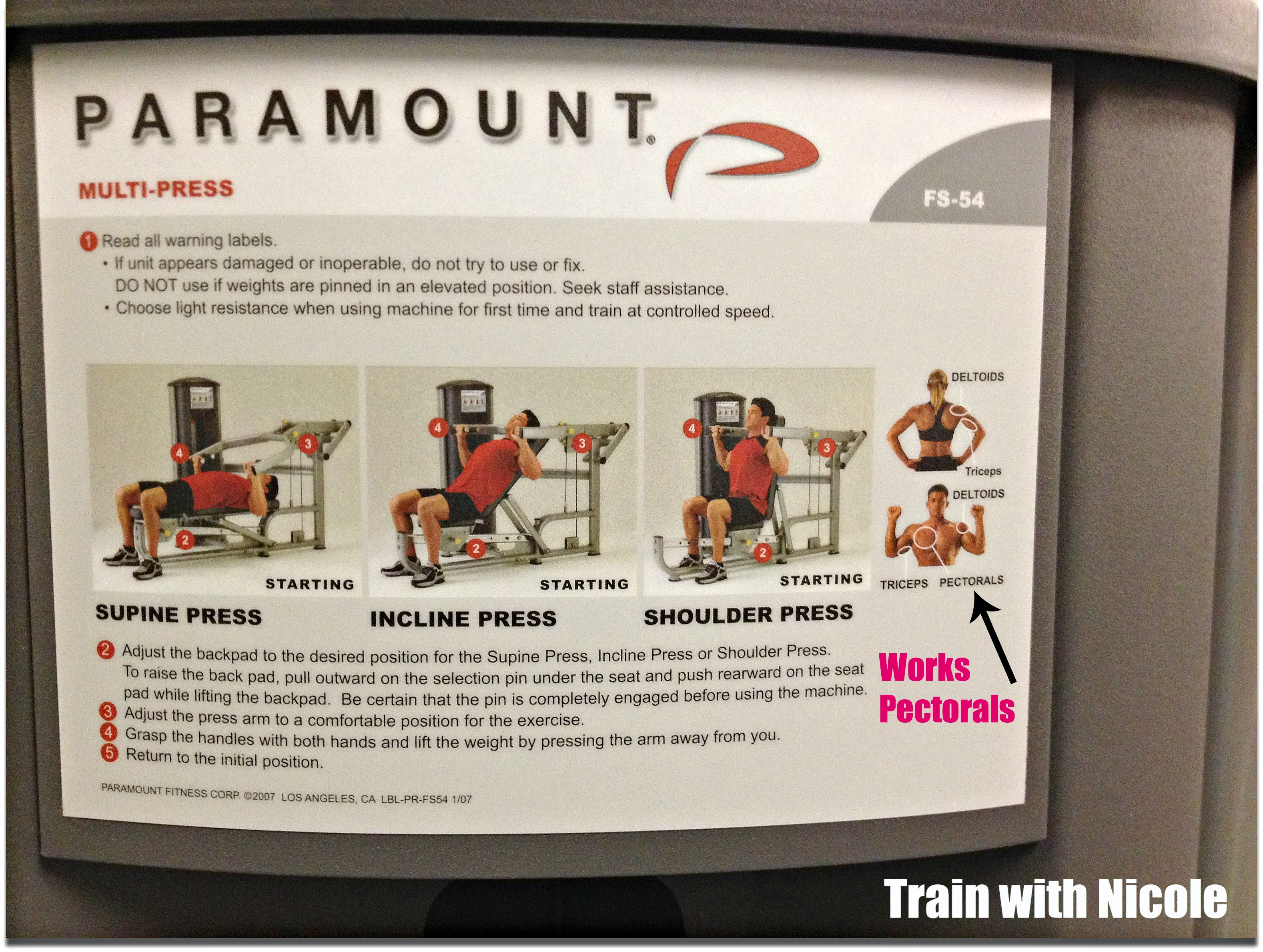 to increase the weight on the machine after becoming stronger is employing the principle of