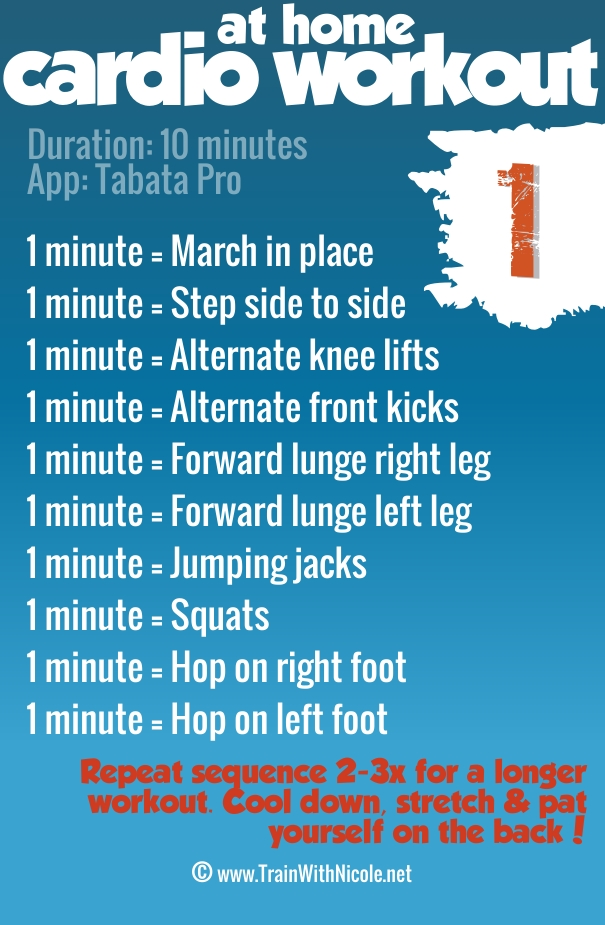 At home 10-minute cardio workout - ©trainwithnicole.net