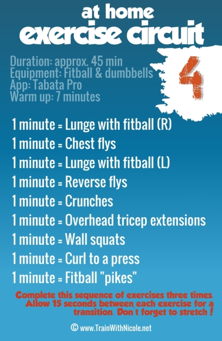 Exercise Circuit #4 - www.trainwithnicole.net
